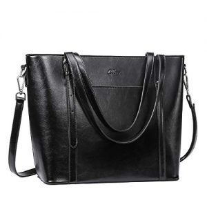 CLUCI Purses and Handbags for Women Oil Wax Leather Designer Vintage Large Tote Fashion Ladies Top Handle Shoulder Bag Black