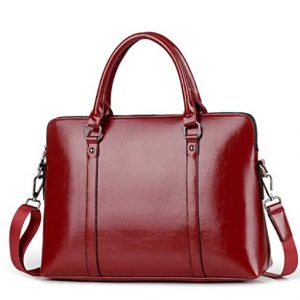 "16.5"" leather convertible large tote Laptop messenger briefcase shoulder crossbody computer bag/purse wear/water proof"