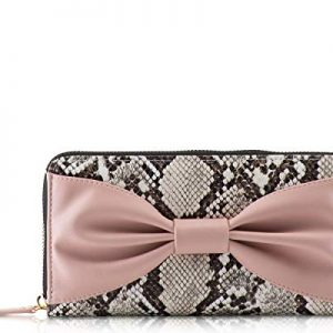 Betsey Johnson Zip Around Wallet, Multi Snake Bownanza, One Size