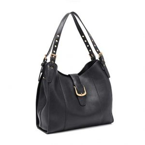 Plambag Faux Leather Hobo Bag for Women Tote Purse Crossbody Shoulder Handbag Black