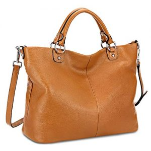 Kattee Women's Soft Genuine Leather Tote Bag, Top Satchel Purses and Handbags …