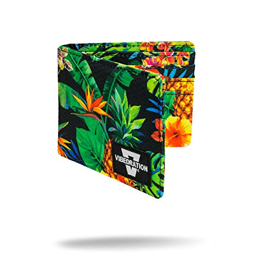 Vibedration Wallet for Men, Boys, Teens, Kids, Women, Girls | Slim Bifold Cool Wallets with Design (Tropical Fuzion)