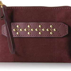 Vera Bradley Women's Leather Mallory Wristlet with RFID Protection, Bittersweet Chocolate