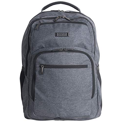 """Kenneth Cole Reaction 17.3"""" Laptop & Tablet Anti-Theft RFID Business, School, Travel Bookbag, Charcoal, One Size"""