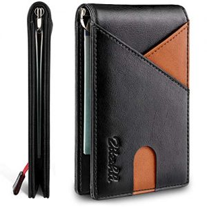 Zitahli Money Clip Wallet-Mens Wallets slim Front Pocket RFID Blocking Card Holder Minimalist Mini Bifold Smart Design
