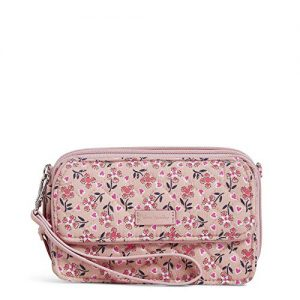 Vera Bradley Women's Signature Cotton RFID All in One Crossbody Wristlet , Sweethearts and Flowers, One Size