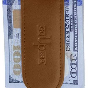 Strong Magnetic Money Clip Wallet – Slim Minimalist Wallet for Men – Genuine Leather Front Pocket Cash Holder