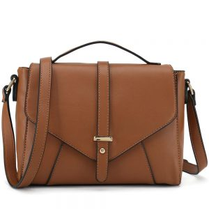 Ladies Designer Purses Cross Body Handbags Trendy Bags for Women Shoulder Bags (Brown)