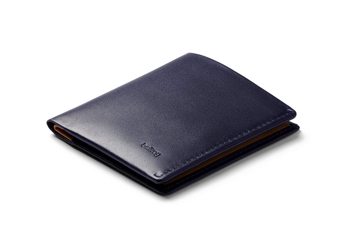 Bellroy Note Sleeve Wallet (Slim Leather Bifold Design, RFID Blocking, Holds 4-11 Cards, Coin Pouch, Flat Note Section) - - Navy - RFID