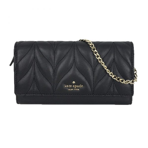 Kate Spade Quilted Leather Milou Convertible Clutch, Black
