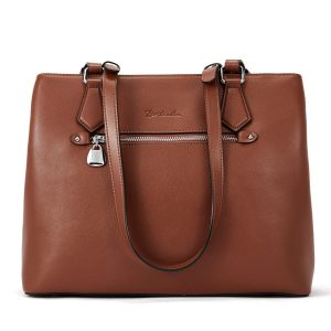 BOSTANTEN Women Handbag Genuine Leather Shoulder Bag Soft Designer Top Handle Purses Brown