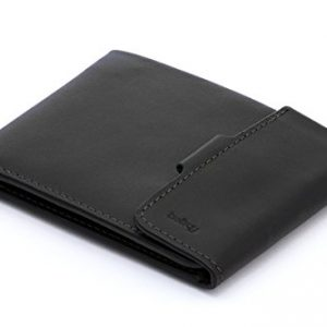 Bellroy Coin Fold Wallet (Coin Pocket & Flat Note Section, Slim Leather Bifold Design, Holds 3-8 Cards) - Black