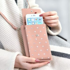 Cellphone Bag Japan and Korea fashion print multi-function Wallet