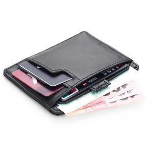 Cow Genuine Leather 0.38cm Super Slim Men Wallet