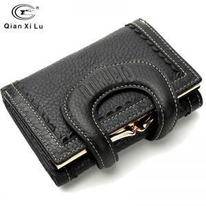 Genuine Leather Wallet Female Short