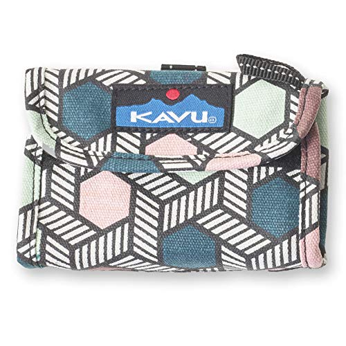 KAVU Wally Trifold Wallet with Coin Pocket and Key Ring - Jewel Pop