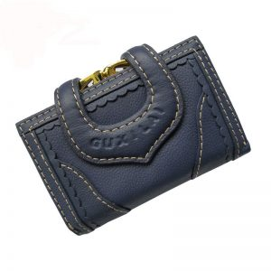 Leather Women Clutch Handbag Gift Cards Coin Purse