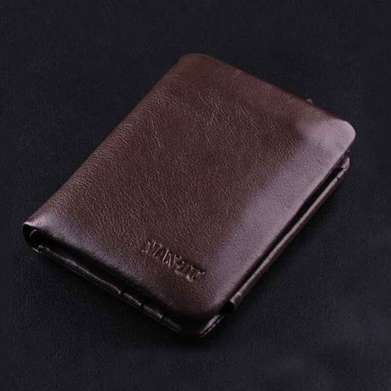 Leather Zipper Wallet Card Pack Trifold Wallet Coin Purse