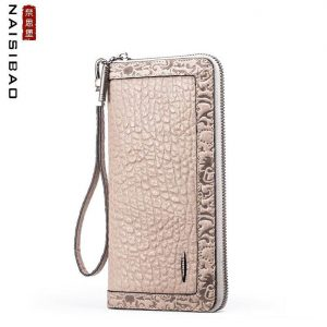 New women genuine leather wallets designer brand