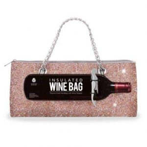 Wild Eye Designs Insulated Wine Bag Trendy Women's Clutch Bag | Holds 1 Standard Bottle of Wine | Fashionable Lunch Bag Purse (Confetti Corkscrew)